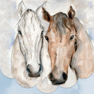 Cath Ward Notepad-2 Horses