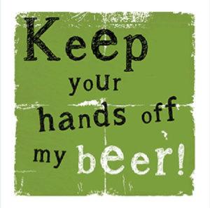 Handsoff my beer Fridge Magnet