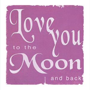 Moon and Back Fridge Magnet