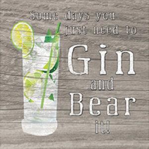Gin & Bear It Fridge Magnet