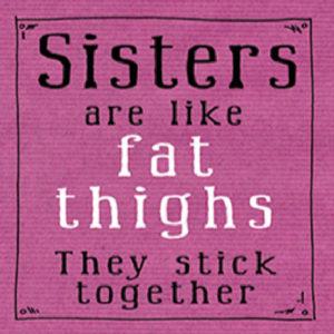 Sister Fat Thighs Fridge Magnet