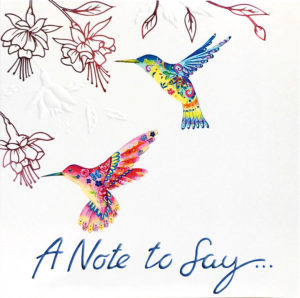 Notecard Hummingbird