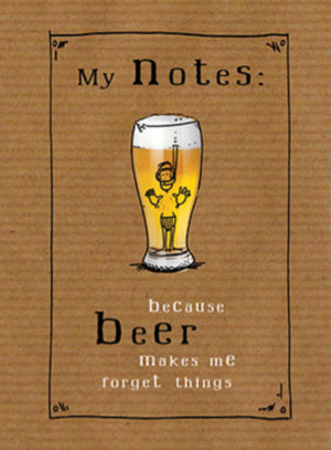 Beer makes me forget A5 Wired Notebook