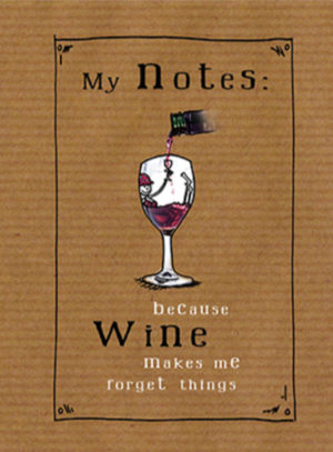 Wine makes me forget A5 Wired Notebook