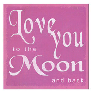 Moon and back  Plaque