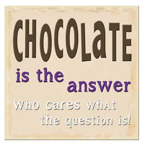 Chocolate the answer Plaque