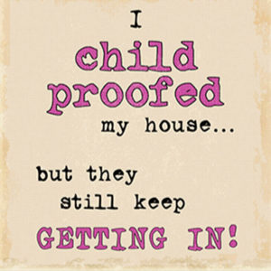 Child proofed Plaque
