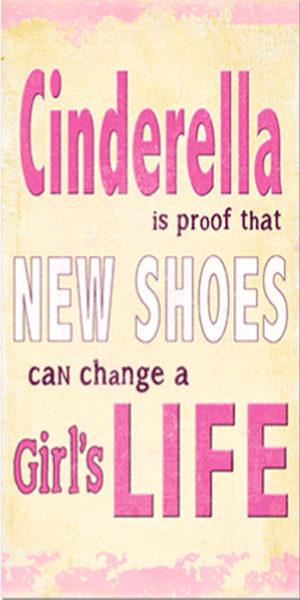 Cinderella new shoes  Plaque