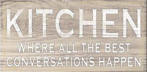 Kitchen conversations  Plaque