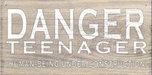 Danger teenager... Plaque