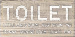 Toilet Plaque