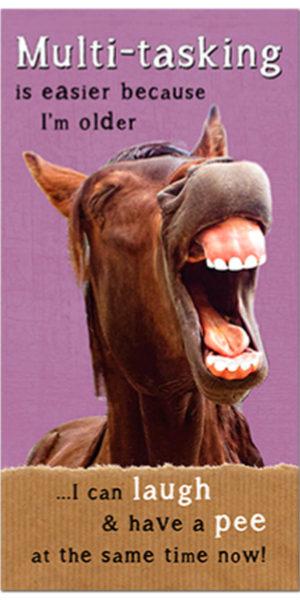 Multi-Tasking horse  Plaque