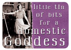 Domestic Goddess Slip Lid Tin