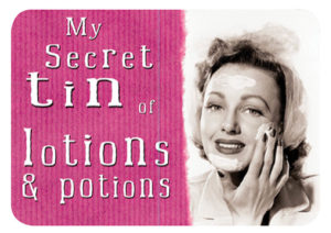 Secret Lotions Slip Lid Tin