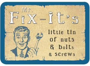 Mr Fix-it's Slip Lid Tin