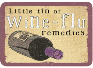 Wine-Flu remedies Slip Lid Tin