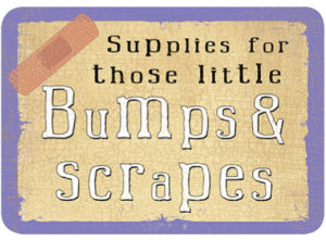 Bumps & Scrapes Slip Lid Tin