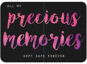 Precious Memories Slip Lid Tin