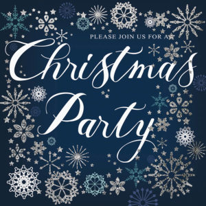 Folded Christmas Party Invite