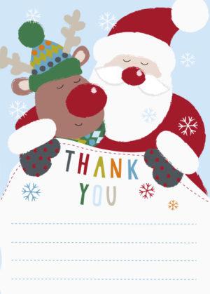 Rudolf & Santa Thank You