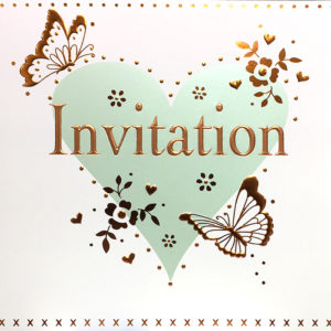 Butterfly Heart Invite
