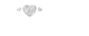 3 Silver Foil Hearts