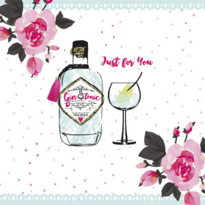 Note Card Just For You Gin & Tonic