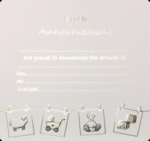 Birth Announcement Wash Line