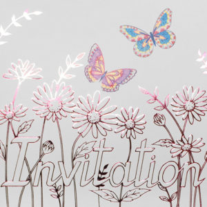 Butterflies and Daisy Invitation
