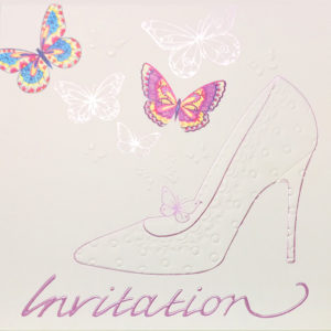 Butterflies Shoe Invitation